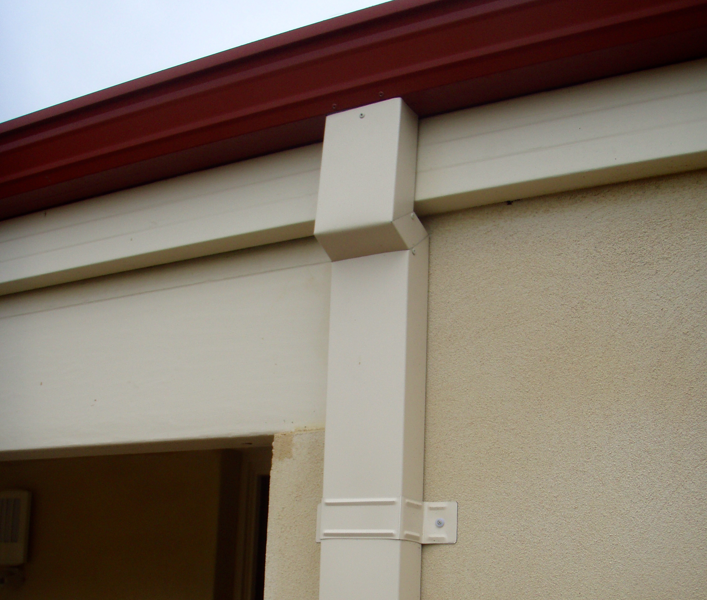 Rectangular downpipes